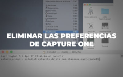 Eliminar las preferencias de Capture One