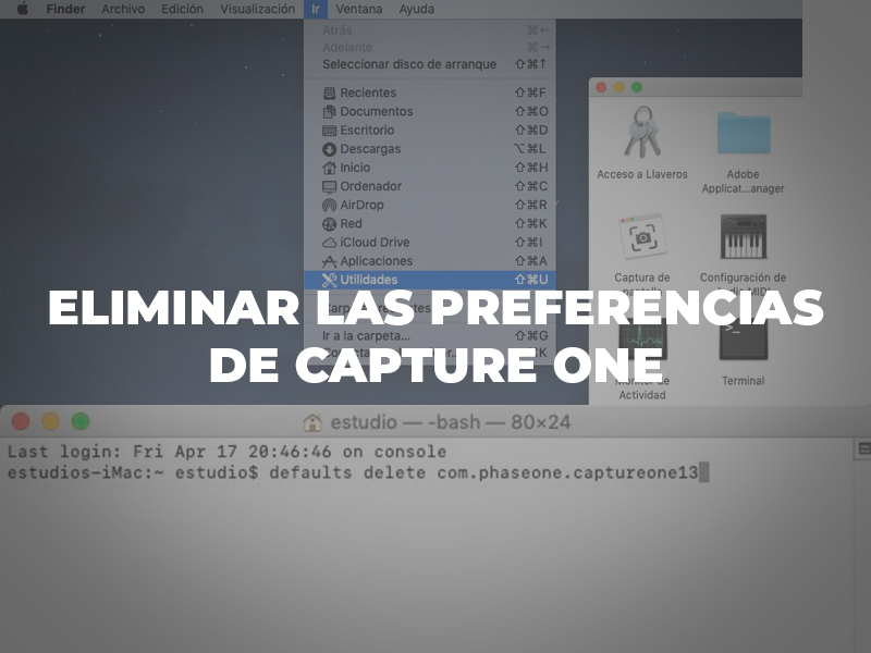 eliminar las preferencias Capture One