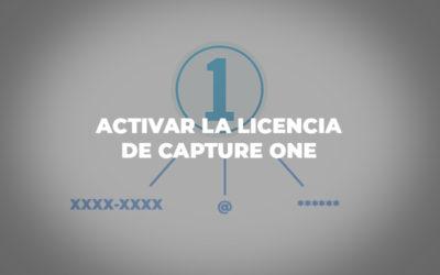 Activar la licencia de Capture One