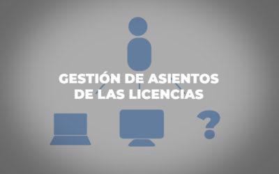 Gestión de asientos de las licencias