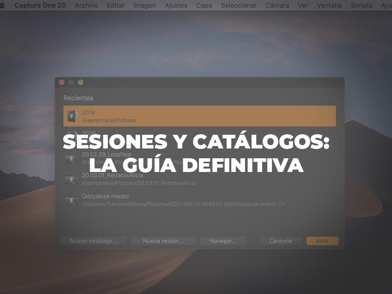 diferencias entre sesiones y catálogos