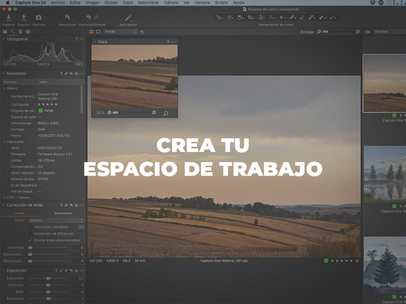 cómo personalizar la interfaz de capture one