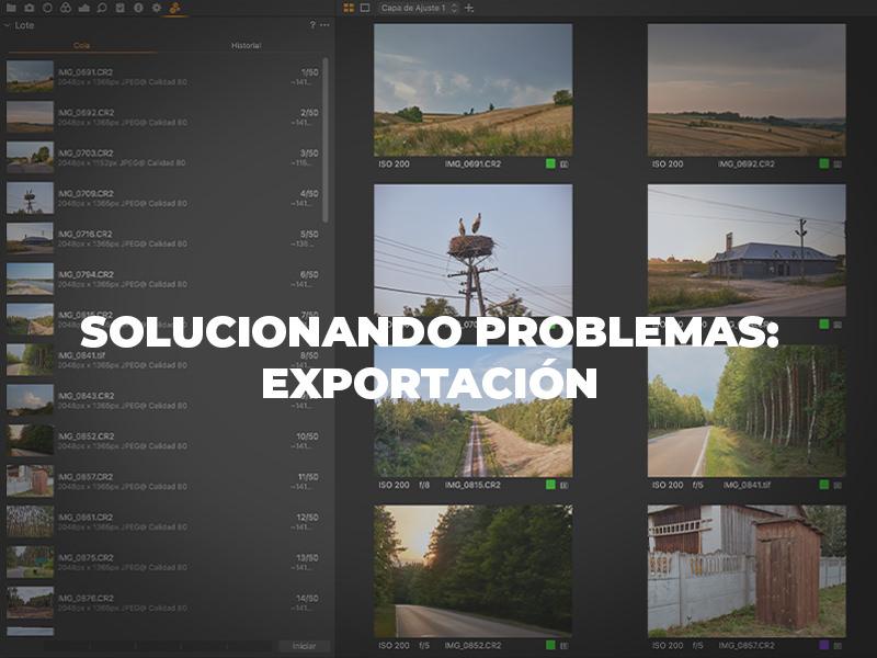 Solucionando problemas: Exportación